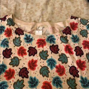 Talbots leaf print sweater